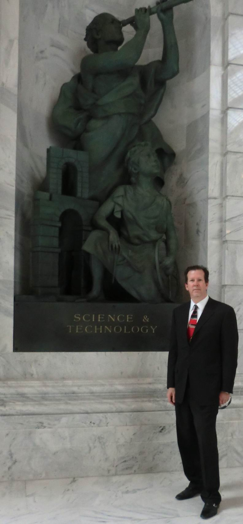 Paul C. Oestreich at the Utah State Capitol, Science and Technology Sculpture